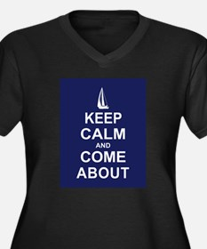 Keep Calm and Come About Women's Plus Size V-Neck