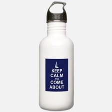 Keep Calm and Come About Water Bottle