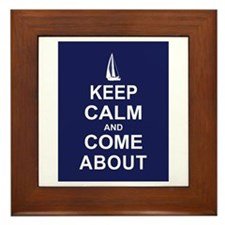 Keep Calm and Come About Framed Tile