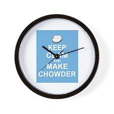 Keep Clam and Make Chowder Wall Clock