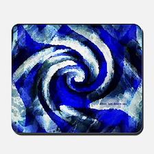 Mod Blue Swirl Mousepad