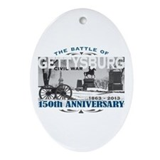 150 Anniversary Gettysburg Battle Ornament (Oval)