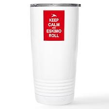 Keep Calm and Kayak Travel Coffee Mug
