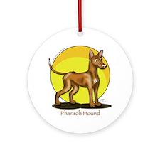Pharaoh Hound Illustration Ornament (Round)