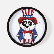 Patriotic Panda Wall Clock