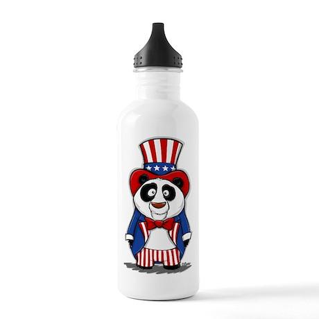 Patriotic Panda Water Bottle