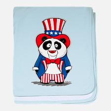 Patriotic Panda baby blanket