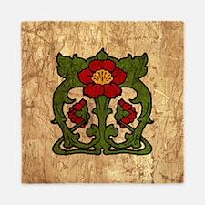 Art Nouveau Floral Motif Queen Duvet