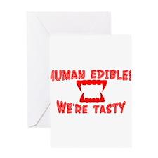 HUMAN EDIBLES Greeting Card