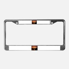 Pittsburgh Sunset License Plate Frame