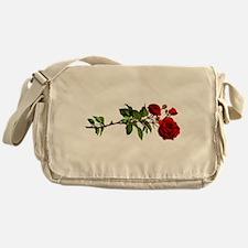 Vintage Red Rose Messenger Bag