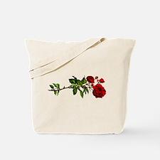 Vintage Red Rose Tote Bag