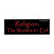 Unique Religious progressive Aluminum License Plate