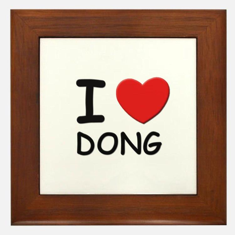 I love Dong Framed Tile