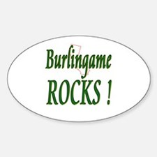 Burlingame Rocks ! Oval Decal