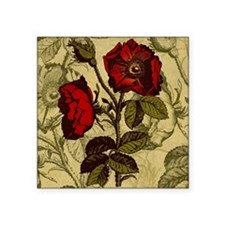 "Antique Rose Square Sticker 3"" x 3"""