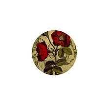 Antique Rose Mini Button