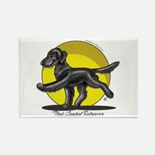 Flat Coated Retriever Illustration Rectangle Magne