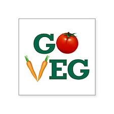 Go Veg Stacked Sticker