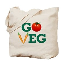 Go Veg Stacked Tote Bag