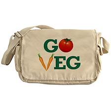 Go Veg Stacked Messenger Bag