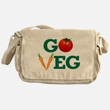 Go Veg Stacked Messenger Bag