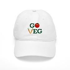 Go Veg Stacked Baseball Baseball Baseball Cap