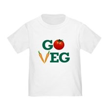 Go Veg Stacked T-Shirt