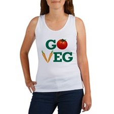 Go Veg Stacked Tank Top
