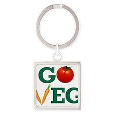 Go Veg Stacked Keychains