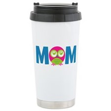 Owl Mom Ceramic Travel Mug