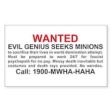 Evil genius seeks minions Decal
