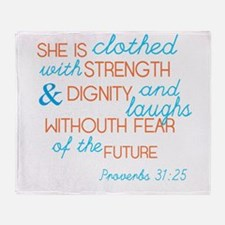 Proverbs 31 Woman Throw Blanket