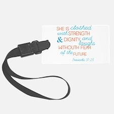 Proverbs 31 Woman Luggage Tag