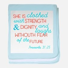 Proverbs 31 Woman baby blanket