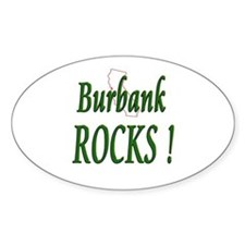 Burbank Rocks ! Oval Decal