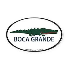 Ponte Vedra - Alligator Design. Oval Car Magnet
