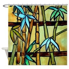 Tiffany Bamboo Panel Shower Curtain