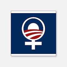 Obama The Thinking Womans Choice Logo.jpg Sticker