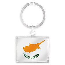 Flag of Cyprus Landscape Keychain