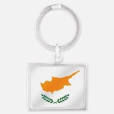 Flag of Cyprus Landscape Keychain