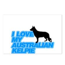 I love my Kelpie Postcards (Package of 8)