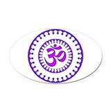 Om symbol Oval Car Magnets