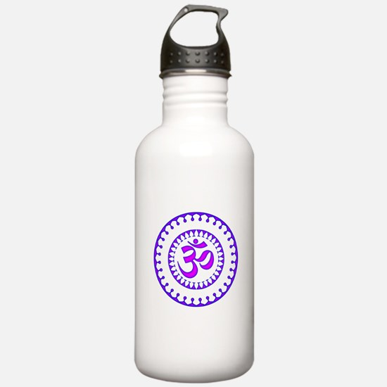 Ornate Om Smybol Purple Sports Water Bottle