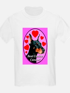 Beat Canine Cancer Cyan Kids T-Shirt