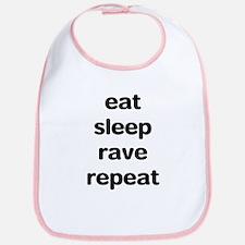 eat sleep rave. Bib