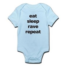 eat sleep rave. Infant Bodysuit