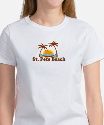 Boca Grande - Palm Trees Design. Women's T-Shirt