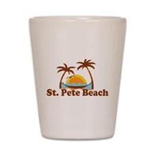 Boca Grande - Palm Trees Design. Shot Glass