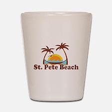 Boca Grande - Palm Trees Design. Shot Glass